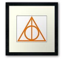 Deathly Hallows orange Framed Print