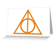 Deathly Hallows orange Greeting Card