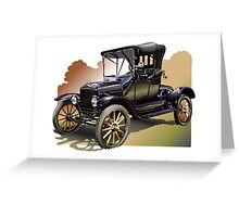 Marty's Model T Greeting Card