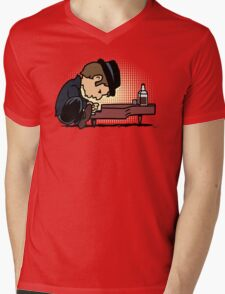Drunk Piano Mens V-Neck T-Shirt