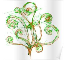 Scribble Tree Poster