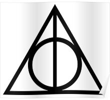 Deathly Hallows symbol Poster