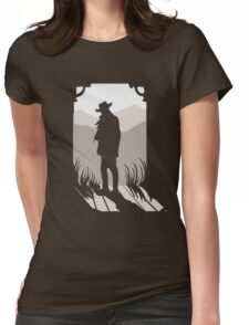 Old Western Silhouette Womens Fitted T-Shirt