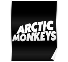 Arctic Monkeys Logo - White Poster