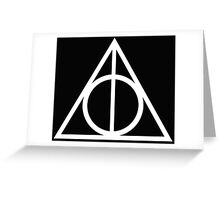 Deathly Hallows white Greeting Card