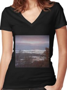 First Fall Of Snow Women's Fitted V-Neck T-Shirt