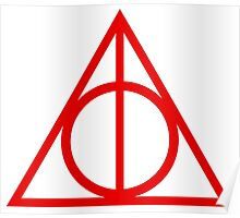 Deathly Hallows red Poster