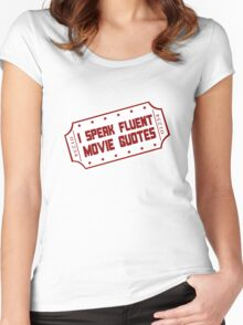 I speak fluent movie guotes geek funny nerd Women's Fitted Scoop T-Shirt