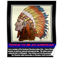 I Am Cherokee, I Am Walkingstick Poster