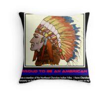 I Am Cherokee, I Am Walkingstick Throw Pillow