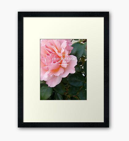 hozier - rose theme Framed Print