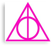Deathly Hallows pink Canvas Print