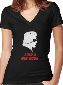 Like a Big Boss Women's Fitted V-Neck T-Shirt