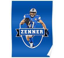 Zach Zenner - Detroit Lions Poster