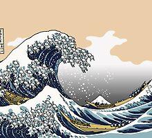The Great Wave Off Katagawa by Tigerpig