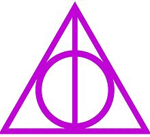 Deathly Hallows purple by rachelshade