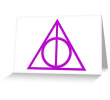 Deathly Hallows purple Greeting Card