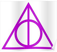 Deathly Hallows purple Poster