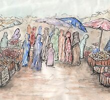 Market Day at the Souk by Vanessa Zakas