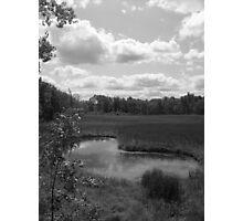 Kidney Pond (Black & White) Photographic Print