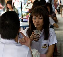 An Ice Drink In Bangkok by Andrew Kalpage