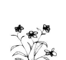 Four Flowers Scribble by MarjorieB