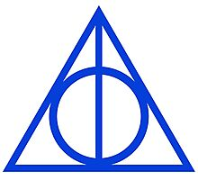 Deathly Hallows blue Photographic Print