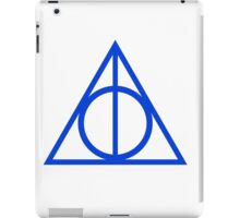Deathly Hallows blue iPad Case/Skin