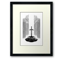 Master Sword Framed Print