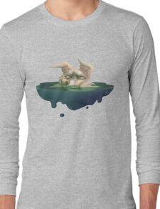 Half drowning dog Long Sleeve T-Shirt