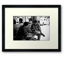 A Game of Chequers Framed Print