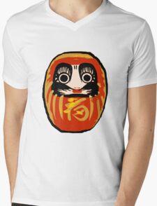 Daruma Doll Mens V-Neck T-Shirt