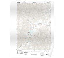 USGS Topo Map Oregon Triangle Lake 20110831 TM Poster