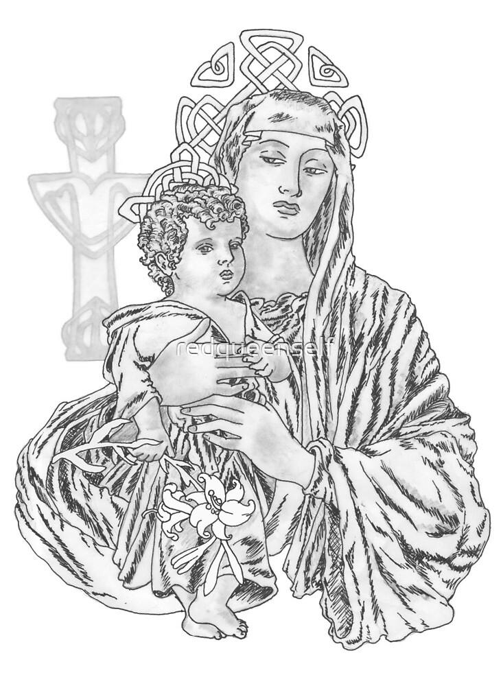 Celtic Madonna by redqueenself
