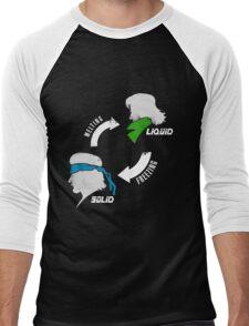 Metal States (light) Men's Baseball ¾ T-Shirt