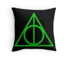 Deathly Hallows green Throw Pillow