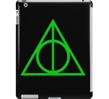 Deathly Hallows green iPad Case/Skin