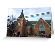 Parker Memorial Baptist Church Greeting Card