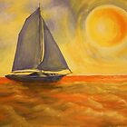 Oil Painting  - Sailboat 2005 by Igor Pozdnyakov