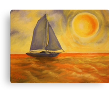 Oil Painting  - Sailboat 2005 Canvas Print