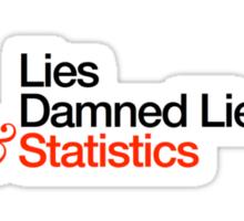 Three kinds of lies Sticker