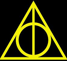 Deathly Hallows yellow by rachelshade