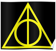 Deathly Hallows yellow Poster