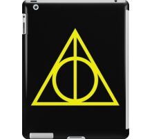 Deathly Hallows yellow iPad Case/Skin