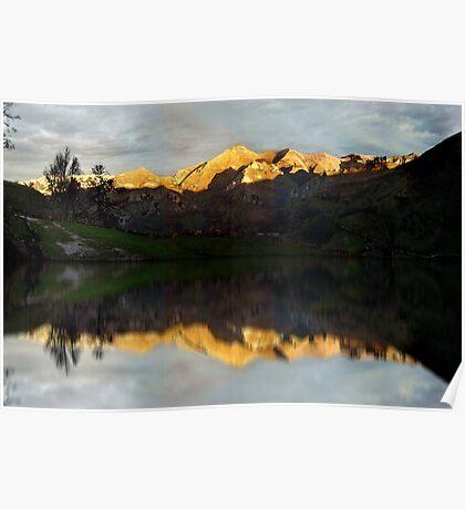 Golden mountains Poster