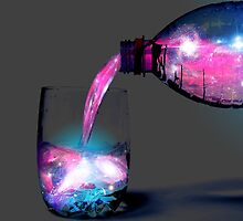 Colorful Galaxy in the glass by Dhaxina