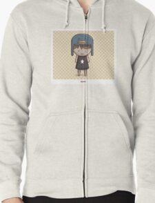Emo Kawaii Girl Zipped Hoodie