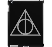 Deathly Hallows grey iPad Case/Skin