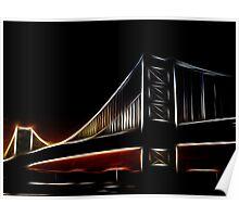Glowing Bridge Poster