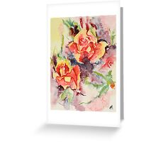 Roses Two Greeting Card